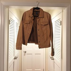 Gap 100% Leather Jean jacket Style